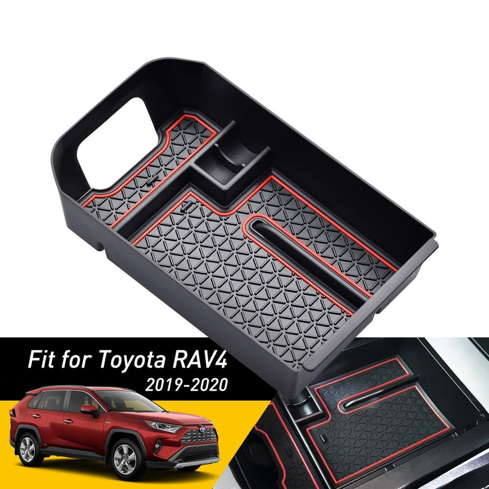 Suitable for Toyota RAV4 5 Generation 2019 2020 Glove Box Center Console Armrest Box Storage Box Bottom Pad,Red