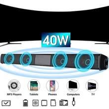 Barra de som alto-falante música sem fio alto-falante de áudio em casa com aux tf cartão microfone estéreo alto-falante