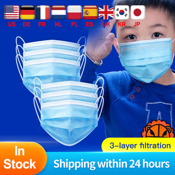 Disposable Child medical Face Mask 3 Layer Respirator Boys Non-Woven Mask Kids surgical Mask Anti Pollution Girls baby Masks