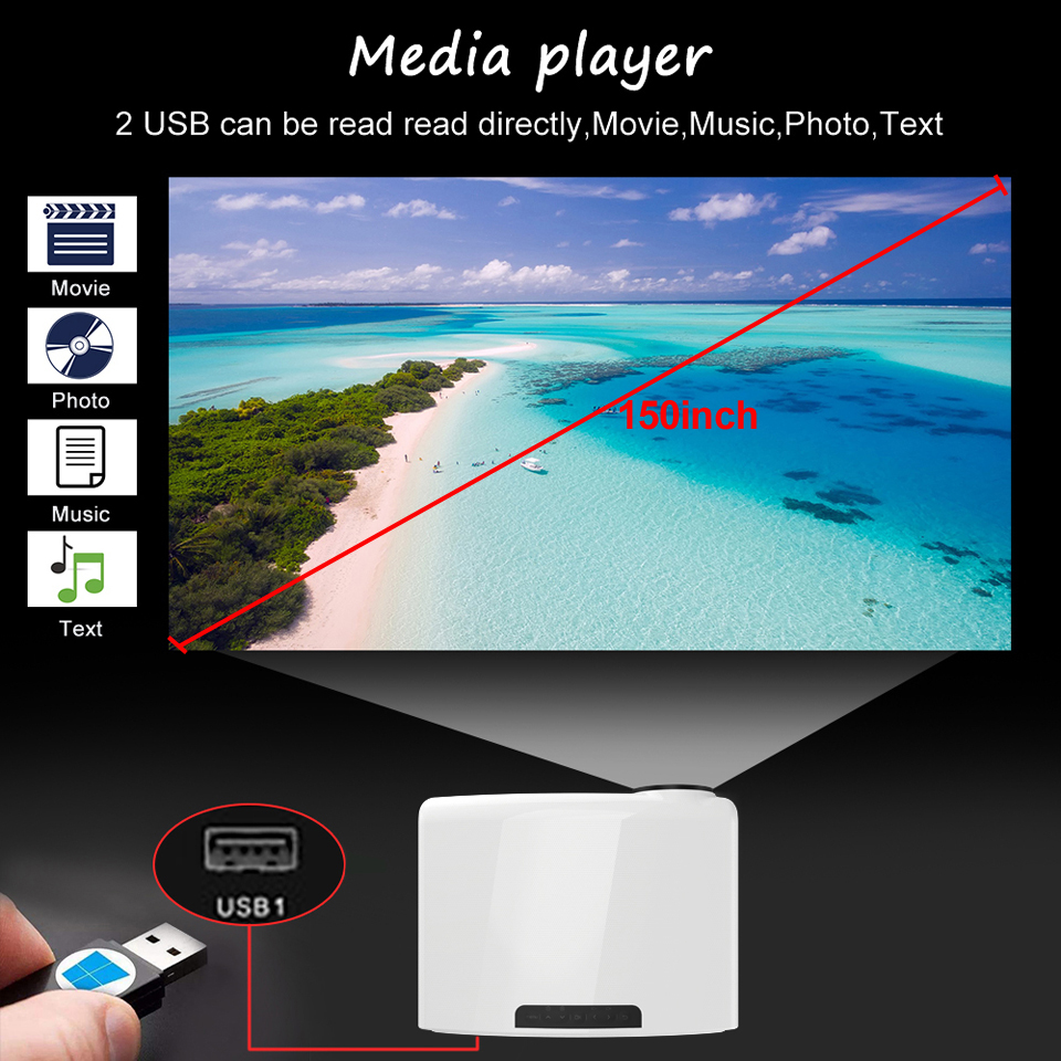 WZATCO C2 1920*1080P Full HD 45 degrés numérique keystone projecteur LED android 9.0 Wifi en option Portable maison Proyector Beamer - 6