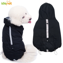 Dog Winter Warm Clothes Pet Coat Jacket for Small Dogs Black Outfit Cats 35