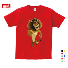 2020 Summer New T Shirt Cartoon Madagascar Lion Alex  Cute Tops T Shirt Summer Send Children Birthday Gift T-shirt 3-12 years 2018 new summer casual men t shirt may only the best are born in may men s t shirt grey birthday gift 00512