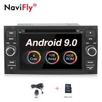 free shipping Android 9.0 Car DVD GPS Navi Player Stereo Radio Audio For FordFocus 2 Mondeo S C Max Fiesta Galaxy Connect