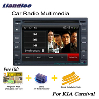 Liandlee For KIA Carnival 2004~2005 2 din Car Android GPS Navi Navigation Maps Radio CD DVD Player Audio Video Stereo OBD2 TV