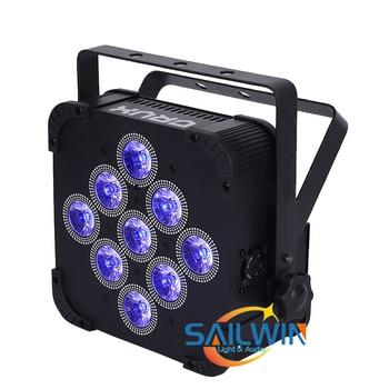 Высокое качество Большая распродажа 9*15 Вт 5в1 RGBAW усиленный батареями с управлением через цифровой протокол регулятором света беспроводной ...
