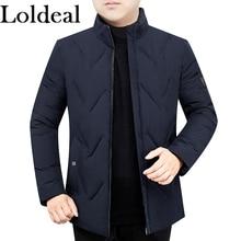 Loldeal Mens Packable Down Jacket