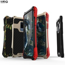 Shockproof Heavy Duty Armor Case For Samsung Galaxy S8 S9 Plus Cover S7 S6 Edge S5 Carbon Fiber Metal