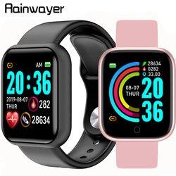 Y68 스마트 시계 방수 블루투스 혈압 피트니스 트래커 심박 측정기 Smartwatch For Apple IOS Android