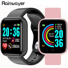 Y68 Smart Watch Waterproof Bluetooth Blood Pressure Fitness Tracker Heart Rate M