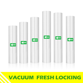 Food Vacuum Sealer Bags Packaging Bag Rolls For Food Storage Saver Sous Vide For Vacuum Sealer Packaging Rolls 1 roll 100pcs thickened saran wrap vacuum sealer general food saver plastic bag food storage preservation bags packaging film