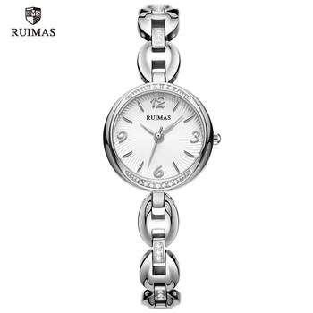 RUIMAS Luxury Quartz Watches Women Silver Bracelet