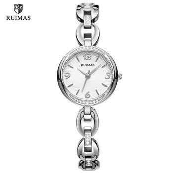 RUIMAS Luxury Quartz Watches Women Silver Bracelet