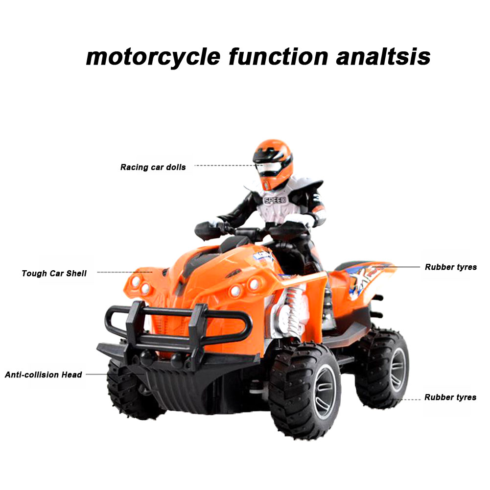 <font><b>RC</b></font> <font><b>Motorcycle</b></font> High Speed Boys Gift Quad Bike Simulated Driving Model Anti Collision Wear Resistant Electric Toy Racing Children image