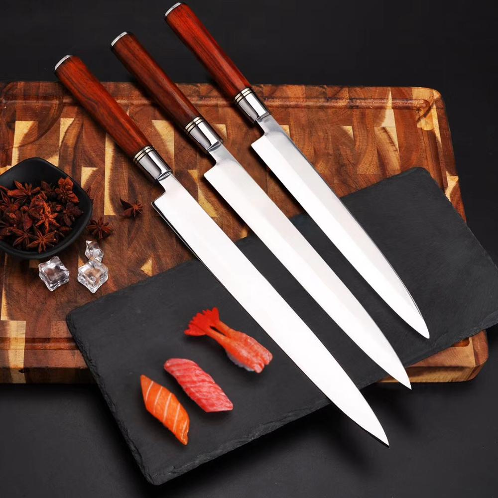 Japanese Sushi Sashimi Knife 1.4116 High Carbon Steel Chef Kitchen Knife Yanagiba Filleting Salmon Fish Cleaver Slicing Knive
