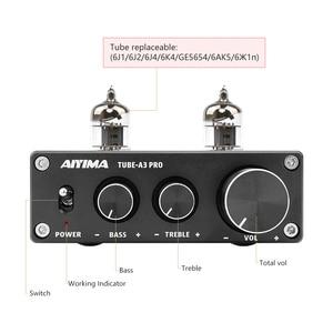 Image 3 - AIYIMA HIFI Bluetooth 5,0 6J1, вакуумный ламповый предусилитель с регулировкой басов и высоких частот для домашнего кинотеатра