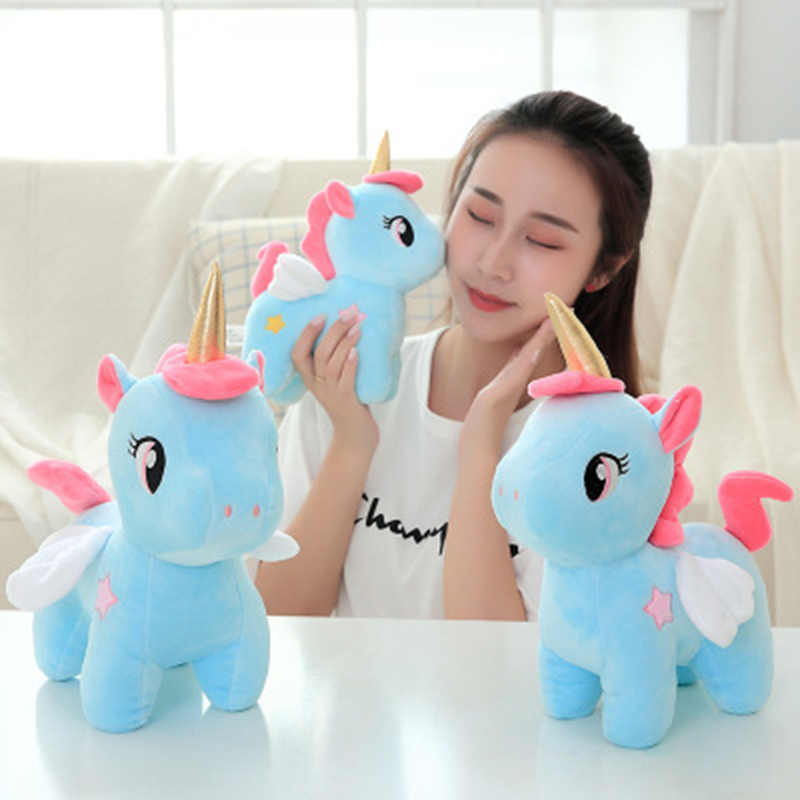 20 Cm Unicorn Lucu Mainan Bayi Anak Menenangkan Tidur Bantal Boneka Dekorasi Kamar Anak Mainan untuk Anak-anak Natal Hadiah