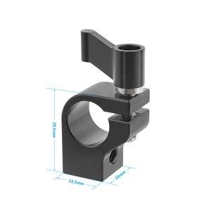 Image 1 - Kayulin Stecker Adapter 15mm Rod Clamp Einstellbare Schwarz Ratsche Wingnut mit 1/4 20 Gewinde Löcher Für Rig Einzigen