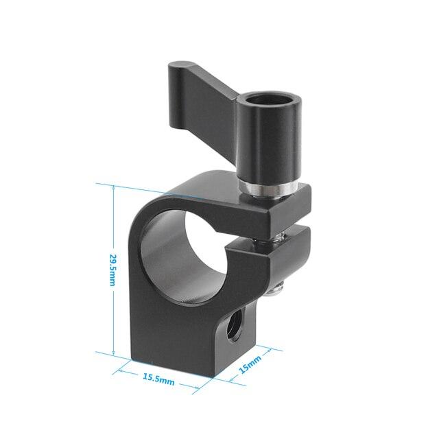 Kayulin Stecker Adapter 15mm Rod Clamp Einstellbare Schwarz Ratsche Wingnut mit 1/4 20 Gewinde Löcher Für Rig Einzigen
