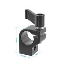 Kayulin konnektör adaptörü 15mm çubuk kelepçe ayarlanabilir siyah cırcır Wingnut ile 1/4 20 için iplik delik sondaj kulesi tek
