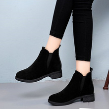 winter warm Ankle boots for women heesl boots Sexy round Toe 2019 Winter Fashion shoes woman botas mujer botte femme boots shoes