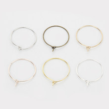 Fashion 50pcs 6 Colors Plated Gold Round Ear Rings Earring Big Circle Ear Wire Hoops For Jewelry Making DIY Accessories 20-40mm
