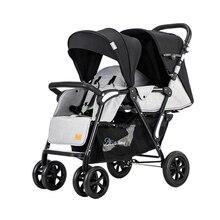 Двойная коляска, большая детская коляска, две коляски, светильник для детской коляски, складная Коляска спереди и сзади