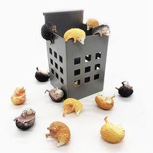 3 шт. Япония капсула игрушки мини еж модель фигурки милые домашние животные гашапон рабочий стол дети
