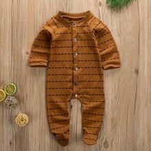 AU/милый комбинезон с длинными рукавами для новорожденных девочек и мальчиков; комбинезон с завязками; боди; Лидер продаж