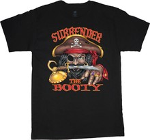 big and tall t-shirt surrender the booty funny pirate tee tall shirts for men(China)