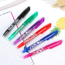 6 pcs/lot Erasable Ballpoint Pen Blue Black Red Colors Ink Refill Ball Pens Office School Student Stationery Writing Supplies(China)