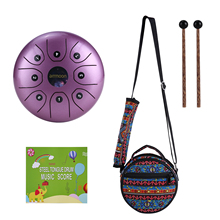 Percussion Instrument Drum Handpan Mini Ammoon Steel 8 8-Notes C-Key