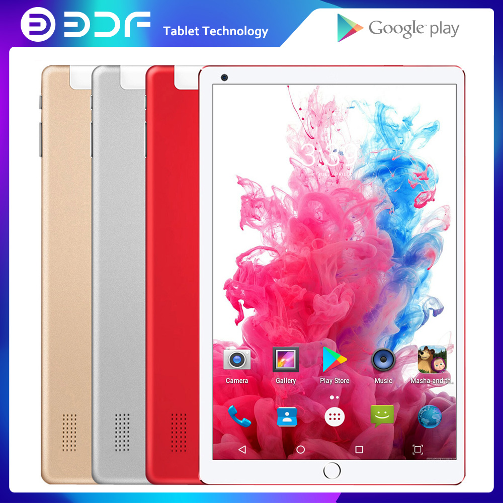 BDF 10 Inch Tablet Pc Android 7.0 Quad Core Dual Camera 5.0MP IPS 1GB RAM 32GB ROM Mobile Laptop Tablets Dual 3G SIM Phone