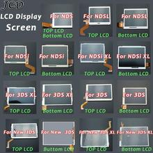 JCD Top Upper & Bottom Lower LCD Display Screen Replacement for Nintendo DS Lite For DSL For NDSi XL NDSL For 3DS New 3DS XL LL