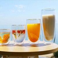 Home Hotel tazza di vetro a doppia parete birra Set di tazze da caffè Espresso bicchieri da tè fatti a mano resistenti al calore bicchieri da whisky