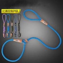 1.2m trela do cão do treinamento de náilon e colar uma corda webbing recall lead line pet tração corda ótimo para ensinar acampamento quintal