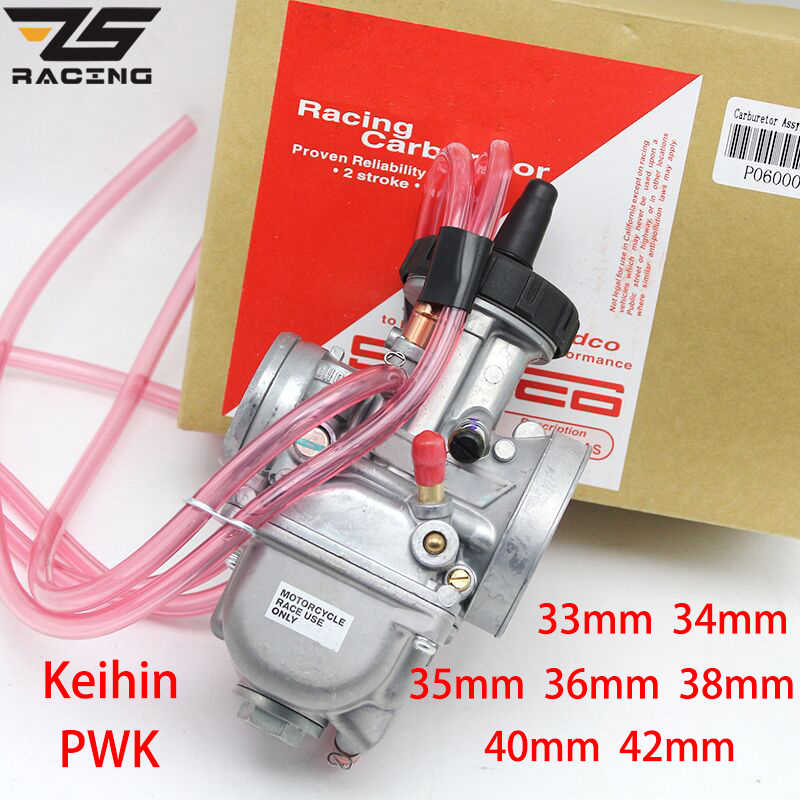ZS Racing moto universelle PWK 33 34 35 36 38 40 42mm 2T 4T | Pour Keihin Mikuni carburateur avec Power Jet 200-450cc