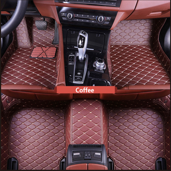 ZRCGL Custom for Tesla Model S 2014 2015 2016 2017 2017 Flash Pad Leather Car Floor Mat Custom Foot Pad Car Carpet Car