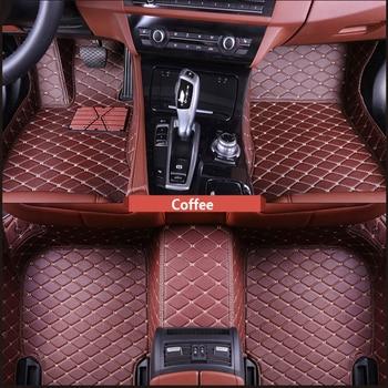 ZRCGL Universal leather Car floor mat for Toyota all models rav4 wish land cruiser vitz mark auris prius camry corolla