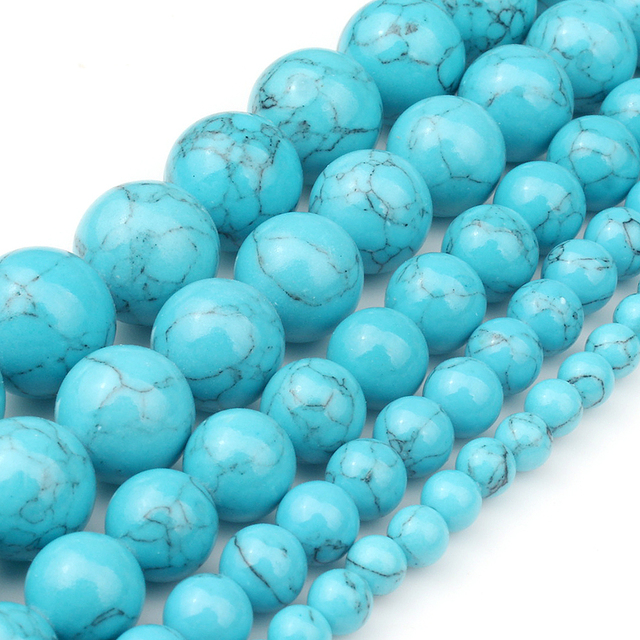 4/6/8/10/12mm Natural Turquoises Bead 4