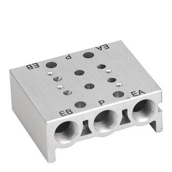 Válvulas de solenoide de SY3120-3000 colector del tubo de escape SS5Y3-2F/3F/4F/5F/6F/7F Válvula de base neumática con juntas