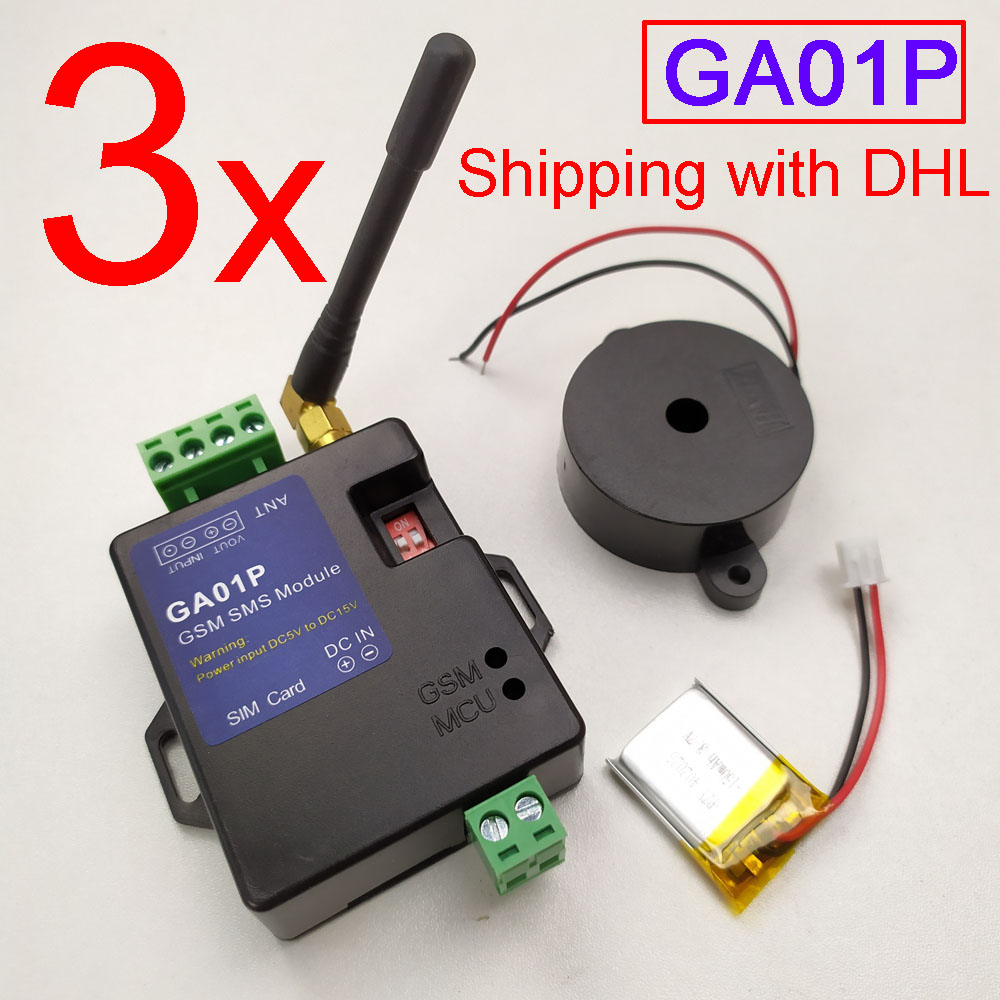 Fast shipping with DHL New GA01P mini GSM Alarm Systems power failure alarm