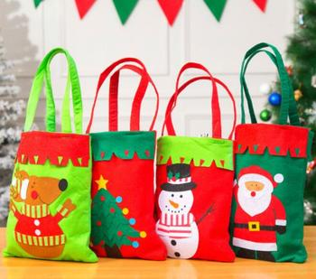 30pcs/lot 42*21 cm Christmas Candy Bags Kids Gifts Exquisite Xmas Party Decor For Home New Year Present Packet Santa Claus