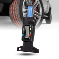 0-25.4mm digital tire depth gauge tire pressure monitor for car and motorcycle