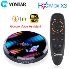 ТВ-приставка VONTAR H96 MAX X3 Android 9,0 4 Гб 128 ГБ четырехъядерный процессор Amlogic S905X3 BT Wifi 8K H96MAX X3 4 Гб 64 ГБ 32 ГБ телеприставка