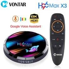 VONTAR TV Box H96 MAX X3, Android 9,0, decodificador de señal con 4GB, 128GB, Amlogic S905X3, Quad core, BT, Wifi, 8K, H96MAX X3, 4GB, 64GB, 32GB