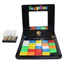 Волшебный блок игра родитель-ребенок слайд двойная игра куб головоломка забавные семейные вечерние Волшебные кубики игрушки Пазлы для детей и взрослых