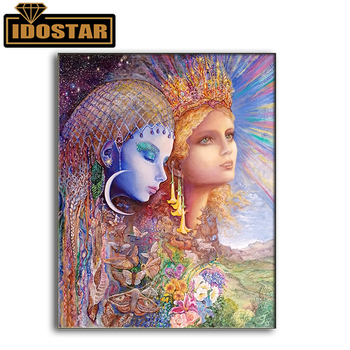 Princess fantasy fairy new arrival DIY Crystal full drill square 5D diamond painting 3d cross stitch kit mosaic round rhinestone image