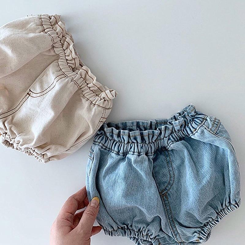 2020 Baby Boys Denim Shorts Infant Toddler Baby Girls PP Shorts Diaper Cover Denim Shorts Kids Jeans Pant Bloomers Baby Shorts 6