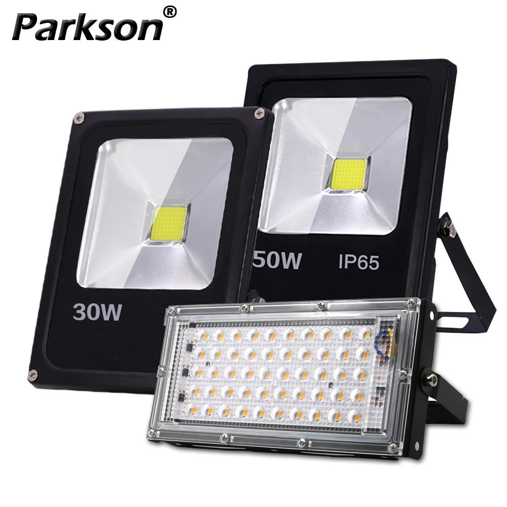 Motion Sensor Led Flood Light Outdoor Spotlight 220V 10W 30W 50W LED Floodlight IP65 Waterproof Projector Combination Street