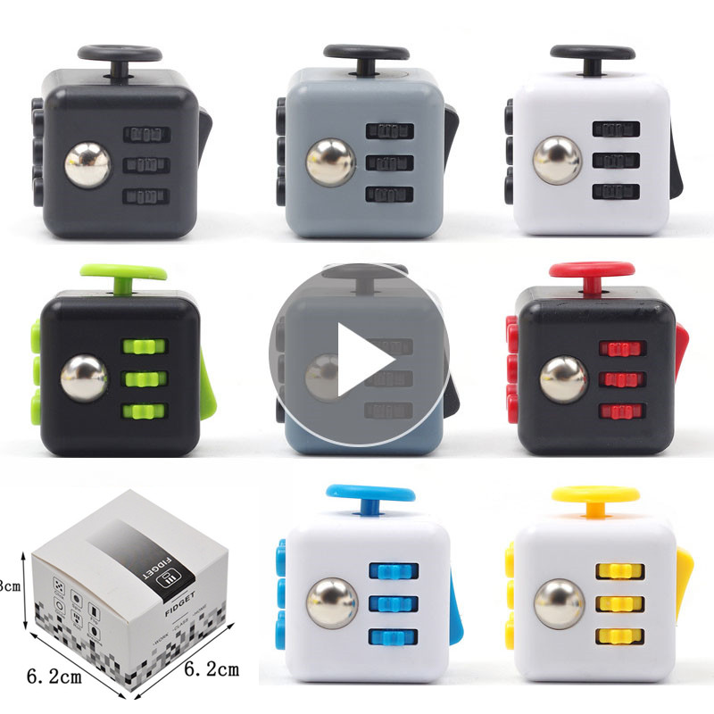 Decompression Magic Cubes New Fidget Stress Cube Toy For Anti Stress Cube Artifact Creative Toy With Box